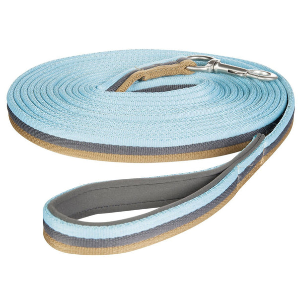 HKM Cavallino Marino Rimini Lunge Line in Dark Grey, Camel and Aqua 9516