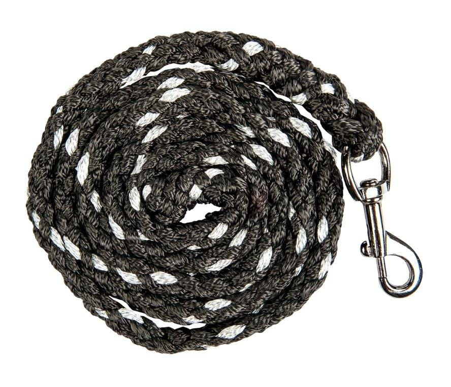 HKM Cavallino Marino Arctic Glitter Lead Rope with Snap Hook in Black