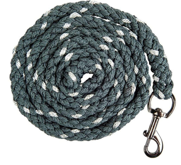 HKM Cavallino Marino Arctic Glitter Lead Rope with Snap Hook in Deep Grey