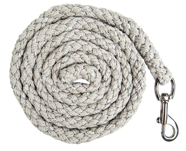 HKM Cavallino Marino Arctic Glitter Lead Rope with Snap Hook in Grey