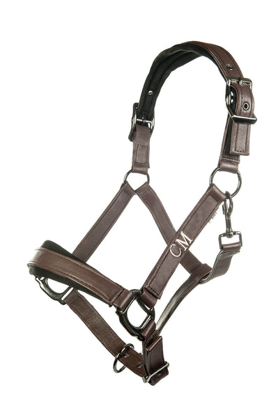 HKM Cavallino Marino Copper Kiss Nylon Headcollar in Mocha