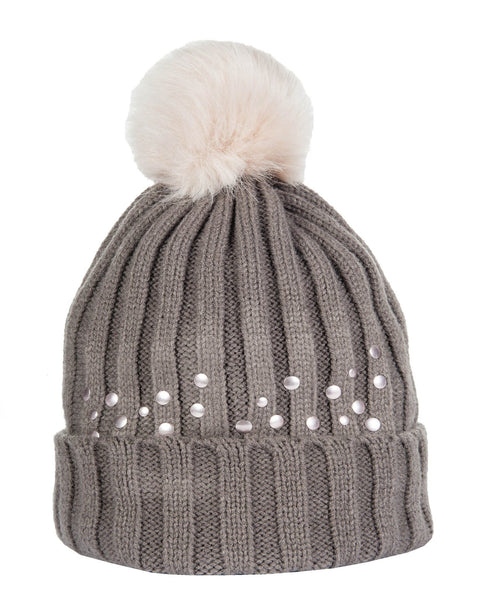 HKM Cavallino Marino Copper Kiss Bobble Hat in Mocha