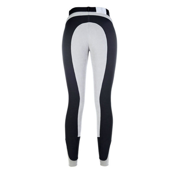 HKM Cavallino Marino Siena Crystal 3/4 Seat Breeches Anthracite Rear 9162/9600