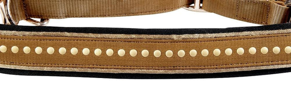 HKM Cavallino Marino Siena Head Collar Camel Close Up 8844/1500