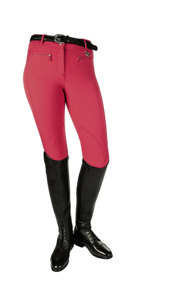 HKM Cavallino Marino Silver Stream Crystal Knee Patch Breeches