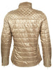 HKM Cavallino Marino Silver Stream Quilted Riding Jacket in Camel Rear View