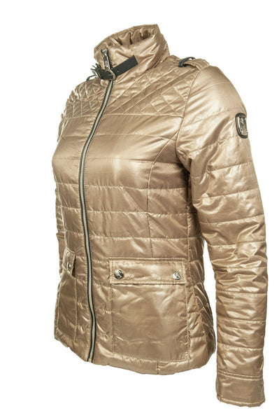 HKM Cavallino Marino Silver Stream Quilted Riding Jacket in Camel Side View