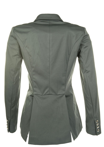 HKM Cavallino Marino Silver Stream Softshell Competition Jacket in Deep Blue Rear View