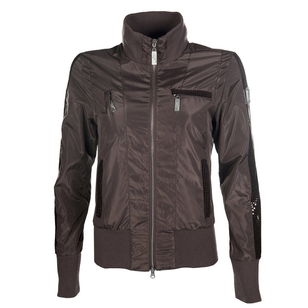 HKM Cavallino Marino Soft Powder Blouson Jacket in Mocha