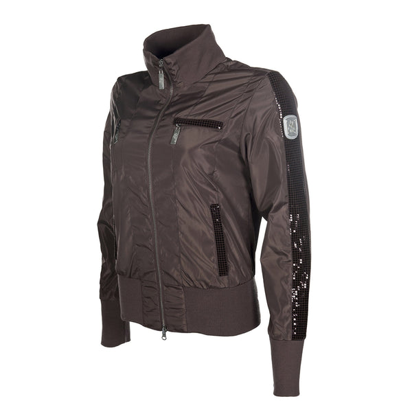 HKM Cavallino Marino Soft Powder Blouson Jacket in Mocha Side View