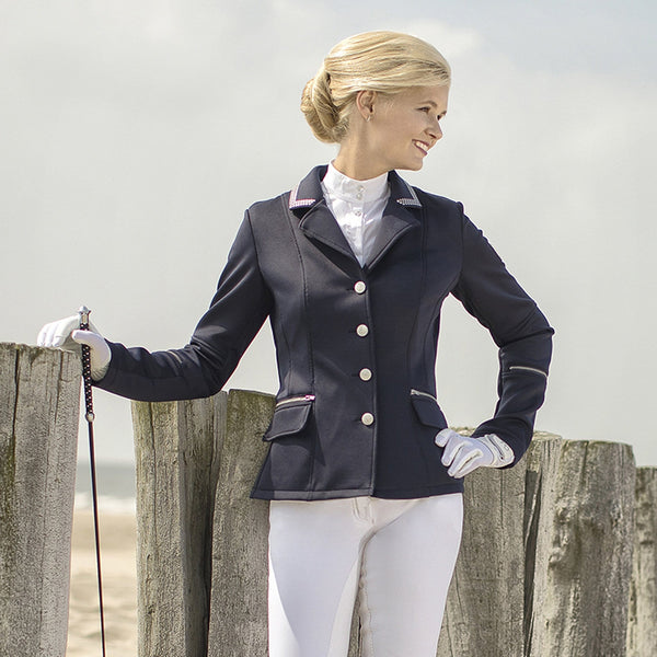 HKM Cavallino Marino Soft Powder Competition Jacket Full Length View