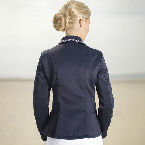 HKM Cavallino Marino Soft Powder Competition Jacket Rear View 8073