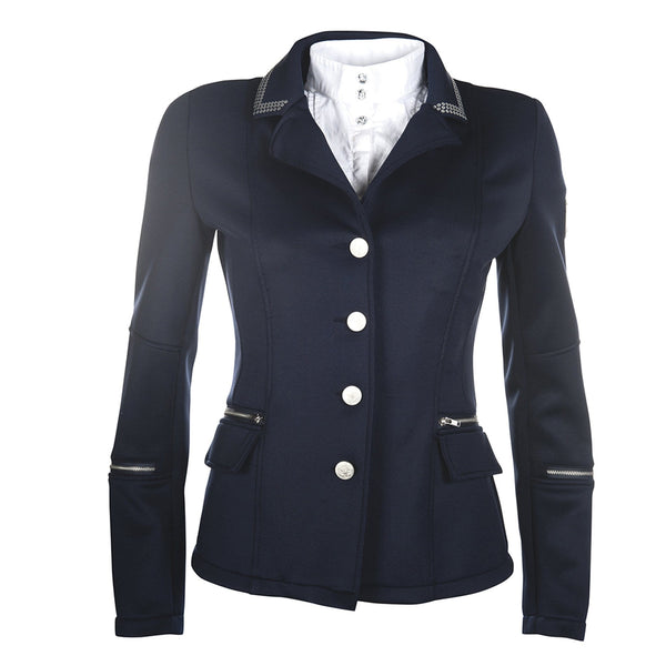 HKM Cavallino Marino Soft Powder Competition Jacket in Deep Blue