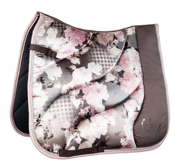 HKM Cavallino Marino Soft Powder Flower Saddle Cloth
