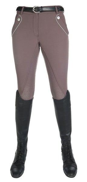 HKM Cavallino Marino Soft Powder Full Seat Silicone Breeches in Mocha