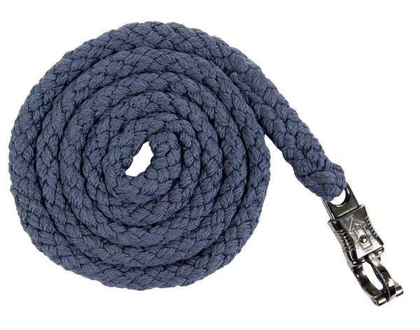 HKM Cavallino Marino Soft Powder Lead Rope with Panic Clip in Blue