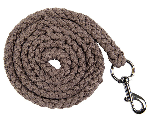 HKM Cavallino Marino Soft Powder Lead Rope with Snap Clip in Mocha