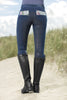 HKM Cavallino Marino Soft Powder Print Full Seat Breeches Rider Rear