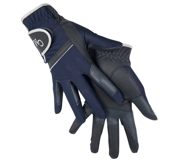 HKM Cavallino Marino Soft Powder Riding Gloves in Blue