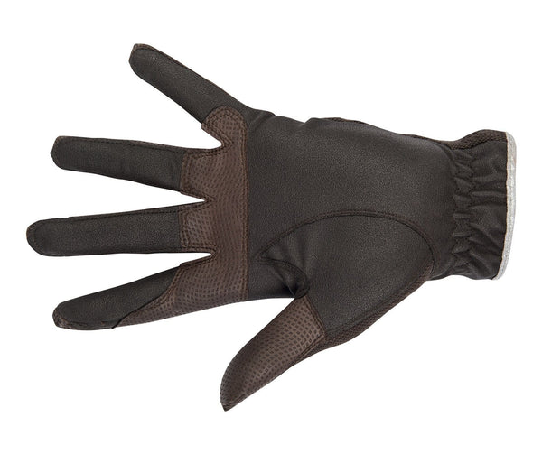 HKM Cavallino Marino Soft Powder Riding Gloves in Mocha Palm