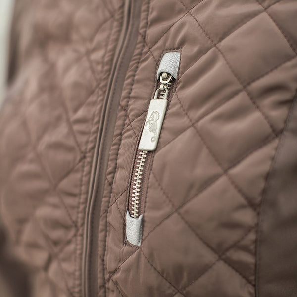 HKM Cavallino Marino Soft Powder Softshell Jacket Close Up 8068