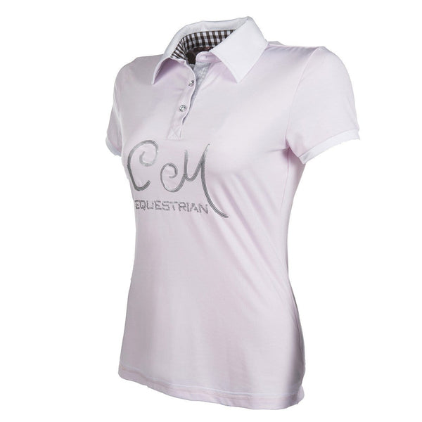 HKM Cavallino Marino Soft Powder Polo Shirt - EQUUS