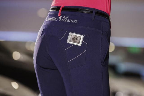 HKM Cavallino Marino Verona Ladies Breeches with Silicone Knee Patch - EQUUS