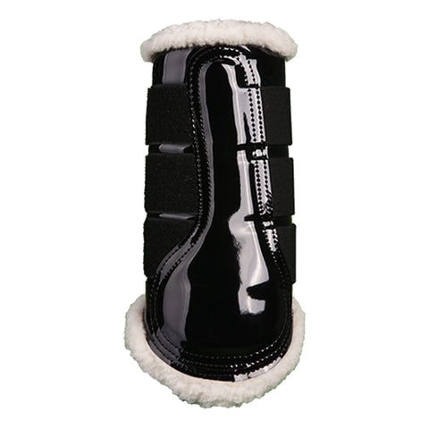 HKM Colourful Patent Comfort Brushing Boots Black 4189/9100
