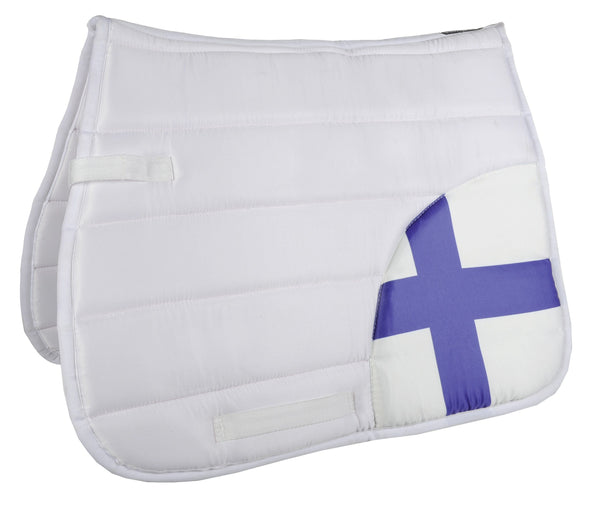 HKM Corner Flags Saddle Cloth Finland 7018