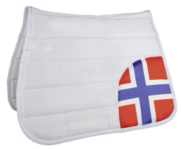 HKM Corner Flags Saddle Cloth Norway 7018