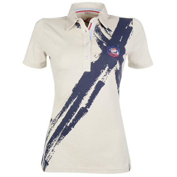 HKM County Summer Polo Shirt Sand and Navy 9861