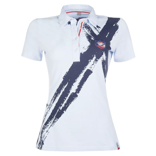 HKM County Summer Polo Shirt Sky Blue and Navy 9861