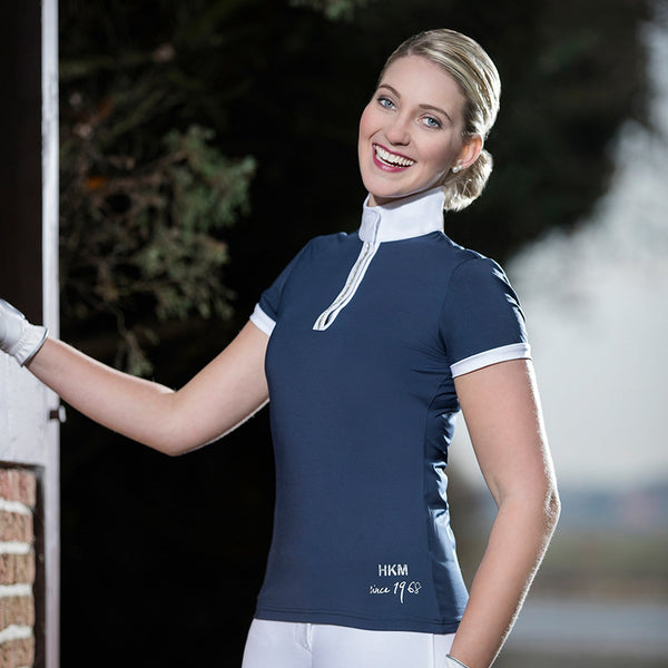 HKM Crystal Competition Shirt in Deep Blue Lifestyle 8544/6900