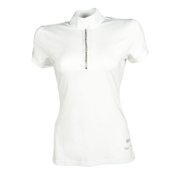 HKM Crystal Competition Shirt in White Studio 8544/1200