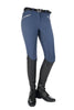 HKM Crystal Silicone Full Seat Breeches in Navy 9540