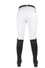 HKM Crystal Silicone Full Seat Breeches in White Rear 9540