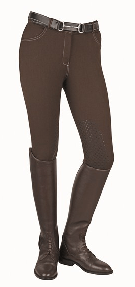 HKM Dots Breeches with Silicone Knee Edging in Brown