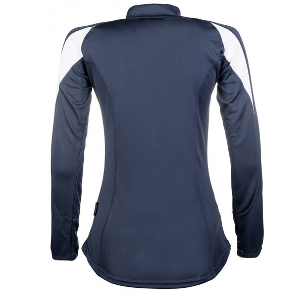 HKM Equestrian Long Sleeve Function Shirt Navy Back 10097