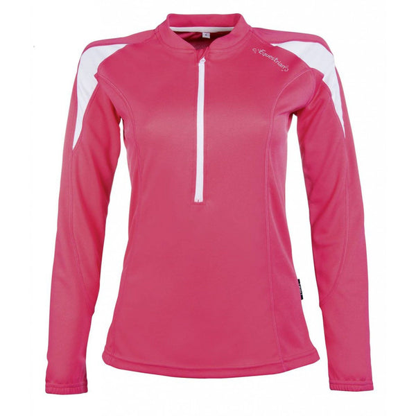 HKM Equestrian Long Sleeve Function Shirt Pink Front 10097