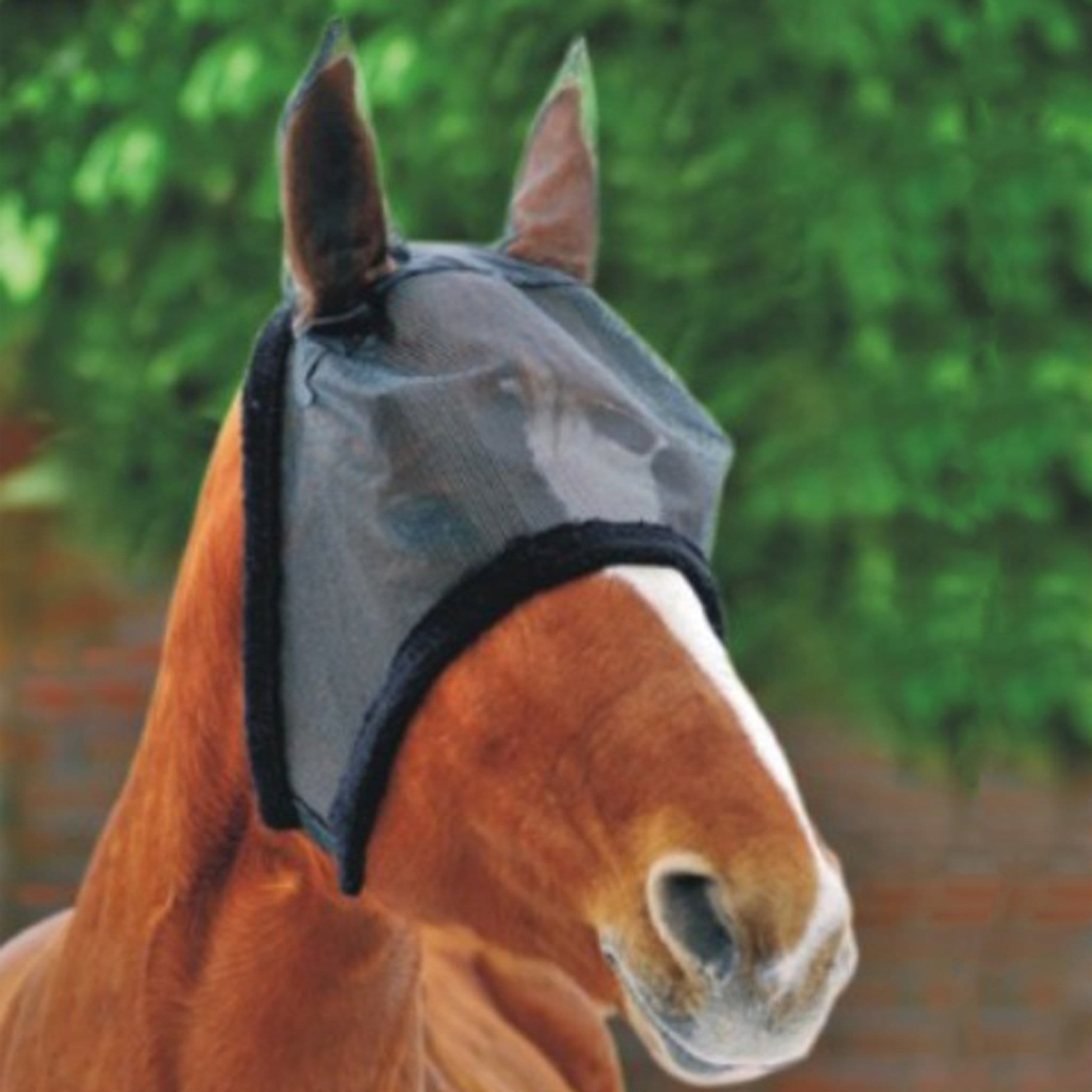 HKM Fly Mask With Soft Faux Fur 4071