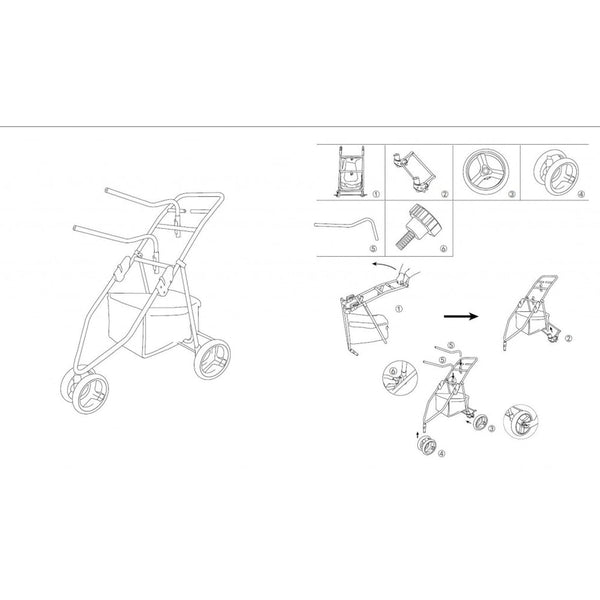 HKM Foldable Tack Trolley Instructions 8797