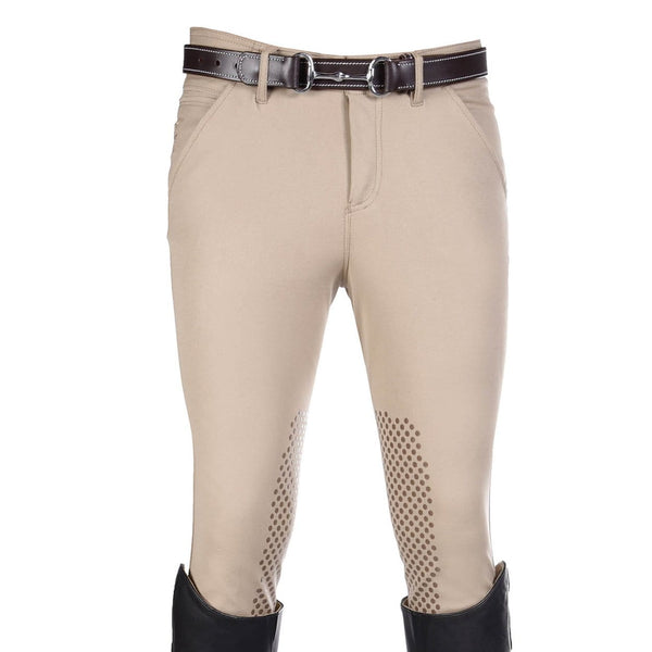 HKM Kingston Intenso Silicone Knee Patch Breeches in Beige 7787