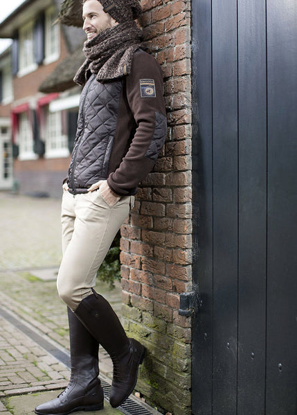 HKM Kingston Intenso Silicone Knee Patch Breeches in Beige worn by Rider 7787