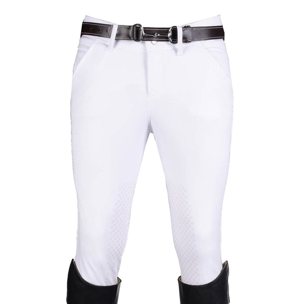 HKM Kingston Intenso Silicone Knee Patch Breeches in White 7787