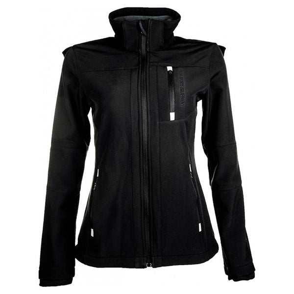 HKM Children's Softshell Sport Jacket Black Front View 5273 9100