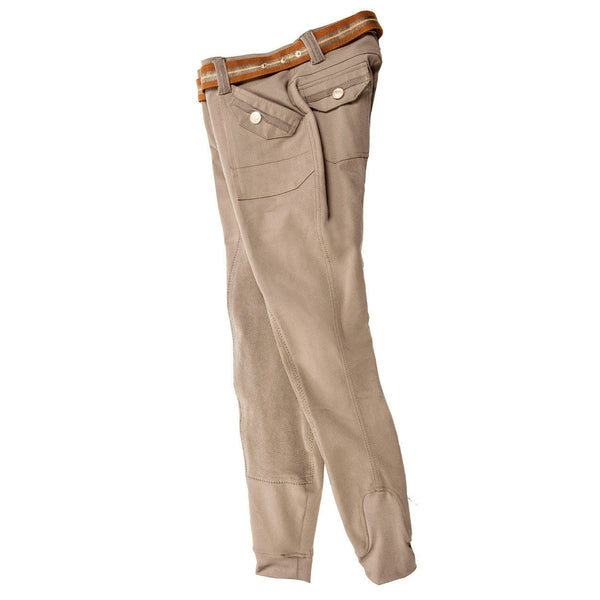 HKM Lauria Garrelli Golden Gate Cargo Riding Breeches - 24 (6) / Taupe | EQUUS
