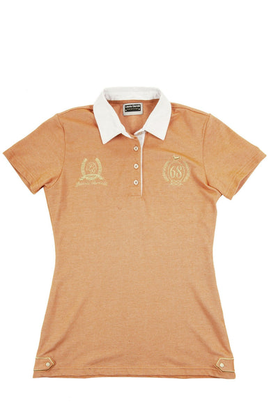 HKM Lauria Garrelli Golden Gate Ladies Polo Shirt - XS (8) / Orange | EQUUS