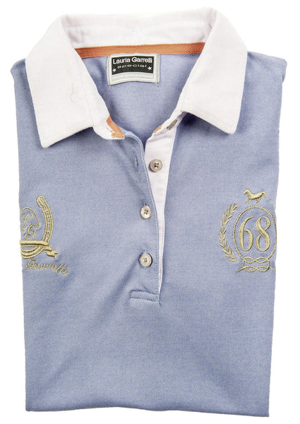HKM Lauria Garrelli Golden Gate Ladies Polo Shirt - XS (8) / Smokey Blue | EQUUS