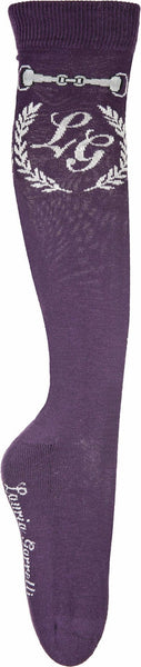 HKM Lauria Garrelli Paris Bit Children's Riding Socks in Dark Lilac