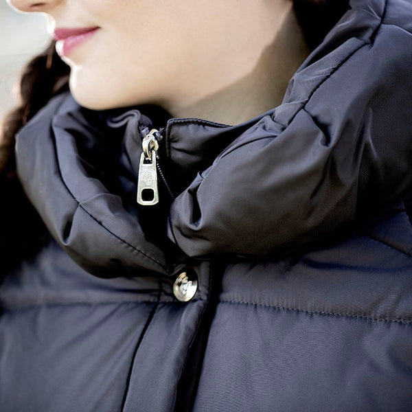 HKM Lauria Garrelli Paris Down Coat Collar Close Up 7009/6900